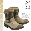 Ash ASH the TITAN shorts Engineer Boots titanium of 330110 suede women's suede ★ ★