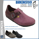 Birkenstock-BIRKENSTOCK LONDON [normal width leather x wool, 3 color mens Womens unisex slip-on [regular]