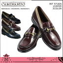 131 [3 colors] カミナンド CAMINANDO bit studs loafer BIT STUDS LOAFER leather men [3/12 Shinnyu load] [regular]★★