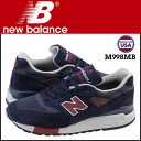 New Balance new balance M998MB Made in USA sneakers D Wise suede X mesh men suede cloth navy