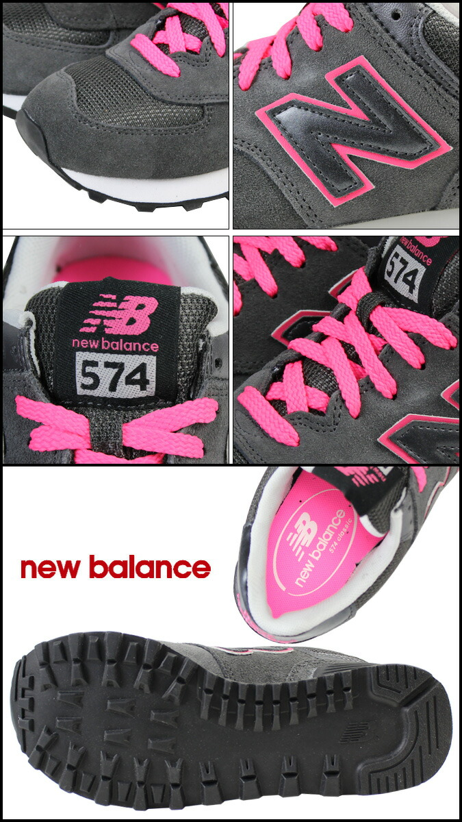 zapatillas new balance wl574 rkp mujer gris rosa