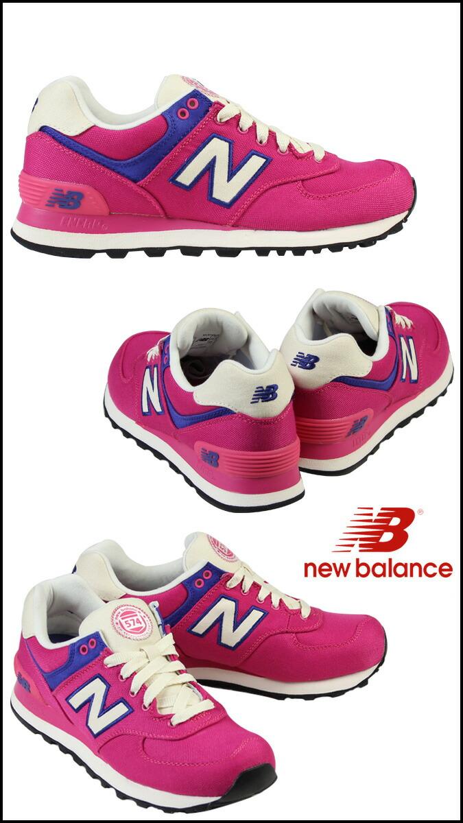 new balance 574 canvas Pink
