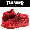 Point 2 x Thrasher THRASHER BUCHANAN DOG TSBDQ-131PRD sneakers ブキャナンドッグ patent mens Womens enamel quilted Red [genuine]