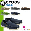 6 color Crocs crocs Santa Cruz SANTA CRUZ canvas x cross light men's slip-on loafers outdoor 10128 [may mid-new in stock] [regular]