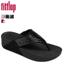 Fit flops FitFlop fuller sandal [Black] 194-001 FLEUR leather women's [regular]