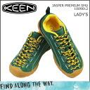Point 2 x KEEN keen women's JASPER PREMIUM SMU sneakers Jasper premium nubuck green 1009012 [regular] 02P31Aug14