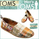 TOMS SHOES Toms shoes mens MEN's CANVAS CLASSICS [Madras] canvas classics cotton deck shoes Toms Toms shoes 2014 new [4 / 9 new in stock] [regular]