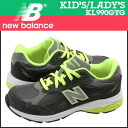 Point 2 x new balance new balance kids ' KJ990GYG sneakers M wise suede x mesh Womens grey suede [regular] 02P20Sep14