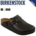 Birkenstock-BIRKENSTOCK Boston BOSTON [normal width leather] dangle Brown mens Womens unisex Sandals [regular]