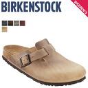 Birkenstock-BIRKENSTOCK Boston BOSTON [normal width leather] 4 color men's women's sandal unisex [regular]
