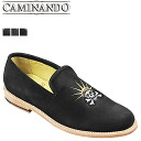 Point 10 times カミナンド CAMINANDO embroidery slip-on shoes EMBROIDERY SLIP ON SHOES nubuck mens GODDES skull embroidery 2014 years receiving 14115 3 color [7 / 29 new stock] [regular]
