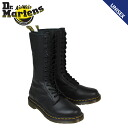 Dr. Martens Dr.Martens ladies 14 Hall Zip Boots WOMEN's 1B99 14 EYLET ZIP BOOT leather long boots R11820008 black [10 / 24 new in stock] [regular]