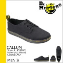 Point 2 x Dr. Martens Dr.Martens columns 3 hole shoes CALLUM 3 EYE SHOE canvas men's casual shoes R14552001 black [regular] 02P13Dec14