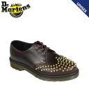 Dr. Martens Dr.Martens Edison studs 3 Hall shoes EDISON STUDDED 3 EYELET SHOE leather mens Womens dress shoes R15394231 Juniper unisex [regular]