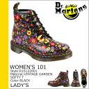 Dr. Martens drmartens ladies 101 6 hole boots WOMEN's 101 6 EYE BOOT leather lace-up boots R16122001 black [10 / 24 new in stock] [regular]