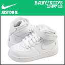 Nike NIKE baby kids ' AIR FORCE 1 MID TD sneakers air force 1 mid toddler leather junior kids BABY TODDLER 314197-004 black [12 / 26 new stock] [regular] ★ ★