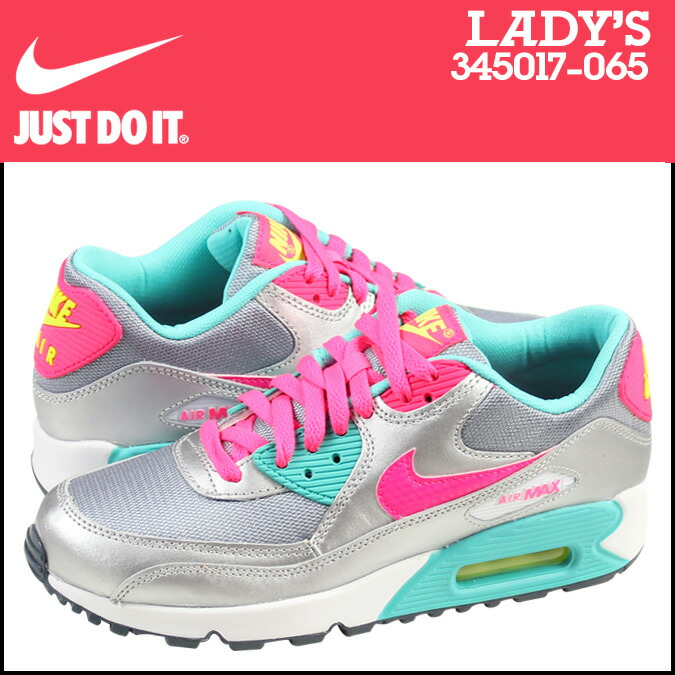 Point 2 x Nike NIKE women\u0026#39;s AIR MAX 90 2007 GS sneakers Air Max 90 2007 girls leather kids \u0026#39; Junior kids GIRLS 345017-064 BLK/H.PUNCH black x pink [11 / 14 ...