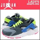 Nike NIKE Womens HUARACHE RUN GS sneakers harach run girls leather x mesh kids ' Junior kids GIRLS 654275-002 grey [regular]