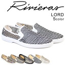 Riviera RIVIERAS mens slip-on LORD shoes loaded mesh Riviera 4 colors [3 / 11 new stock] [regular] ★ ★