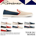Riviera RIVIERAS mens slip-on TOUR DU MONDE shoes told Mondo canvas mesh Riviera 6 colors [3 / 11 new stock] [regular] ★ ★