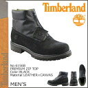 Timberland Timberland premium zip top boots PREMIUM ZIP TOP leather / canvas men's 6156B black [3 / 24 new in stock] [regular] ★ ★