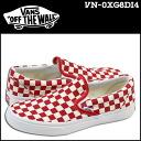 Vans VANS CLASSIC SLIP-ON GOLDEN COAST in 2014 slip-on canvas sneakers men's classic slip-on many new VN-0XG8DI4 RED/WTCKR red x white [regular]