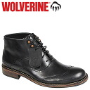 Point 2 x Wolverine WOLVERINE Wesley's 1000 mile wing tip chukka boots WESLEY 1000 MILE WINGTIP CHUKKA BOOT D wise leather men's W00923 black [10 / 31 new stock] [regular] P06Dec14