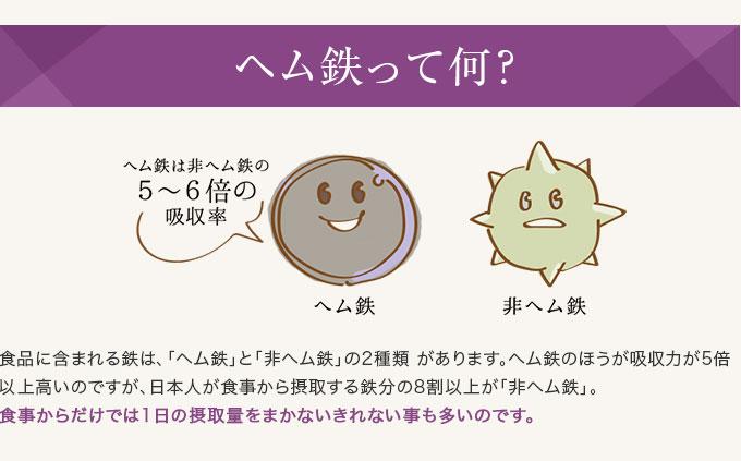 ヘム鉄って何? 食品に含まれる鉄は、「ヘム鉄」と「非ヘム鉄」の2種類があります。ヘム鉄のほうが吸収力が5倍以上高いのですが、日本人が食事から摂取する鉄分の8割以上が「非ヘム鉄」。食事からだけでは1日の摂取量をまかないきれないことも多いのです。