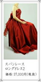 小花刺繍とスパンコールが可愛らしいドレス