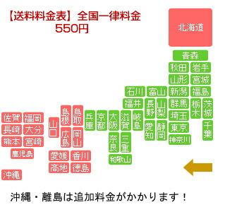【送料料金表】 全国一律料金550円