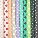 Was sold 11-minute ☆ YUWA ハーフリネン mini-dots cut cross 10 piece set 有輪 shopping fabric / cloth dot polka dot mini sewing cotton hemp