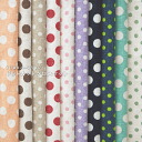 Was sold 11-minute ☆ YUWA ハーフリネン mini-dots cut cross 10 piece set 有輪 shopping fabric / cloth dot polka dot mini sewing cotton hemp