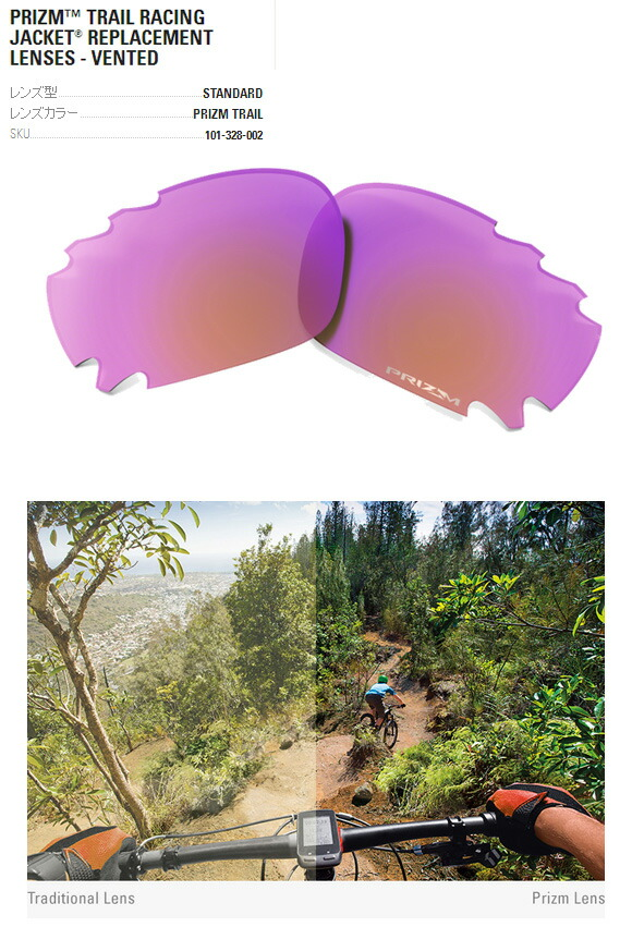 Oakley Prizm Trail Racing Jacket Replacement Lenses