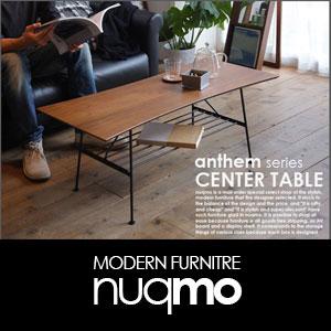 anthemシリーズ センターテーブル 北欧・ウォールナット×スチール