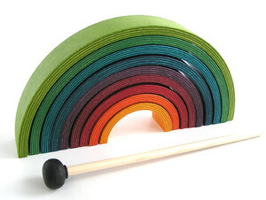 NAEF/RAINBOWFNUTS :  striped gadget japan design