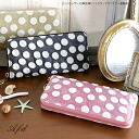 Plump leather leather Yuzen dotroundfasner long wallet /Anti-Forme Desgin goods cloth Womens long purse polka dot leather pig leather Yuzen dyeing o-sho.