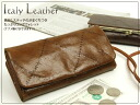 Brown stitch coin purse with lots of long wallet with diagonal put straps / purse ladies long purse coin purse / アインソフ leather DA399-CSD women's wallets wallet Womens Leather o-sho