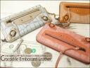 Croc embossed leather & buckle zip expressions long wallet (long wallet) / アインソフ /DA534-MAL / / leather wallet ladies long wallet Womens Leather o-sho
