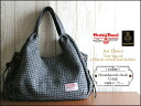 Harris Tweed & leather handle tote bag (houndstooth and gray) art direct tocasualtort shoulder bag women's leather wool o-sho 10P12Oct14
