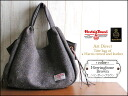Harris Tweed tote bag 2014 Harris Tweed & leather handle Tote herringbone Brown art direct tocasualtort shoulder bag women's leather wool o-sho 10P12Oct14