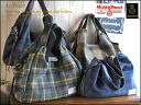 Harris Tweed & leather handle tote bag / art direct トカジュアルトート shoulder bag check pattern ladies leather wool o-sho