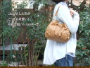 It is bag real leather bag lady o-sho at the shoulder pochette bag / ヴュレ / shoulder bag bias of the drawstring purse softly
