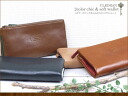 Chic softly long wallet (CLEDRAN wallet) long wallet leather cowhide Lady's men wallet Lady's long wallet Lady's real leather o-sho of 2 long wallet colors