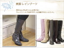Beauty leg boots / knee high boots Synthetic enamel rain rain shoes o-sho