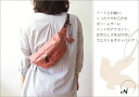 Punching dot body & bum-bag / エン / her best / real leather bag lady o-sho of the soft pony