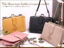 Moist pouch folio wallet / wallet Lady's long wallet Lady's real leather leather pouch o-sho of the エンディア-like leather