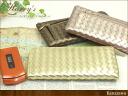 Metallic mesh L-shaped fasnaslimworrett leather intrecciato long wallet ladies men's women's wallets wallet ladies leather o-sho