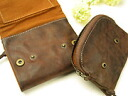 Old leather double Paris wallet ( 2 fold wallet ) / in Souf o-sho 10P12Oct14
