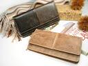 Smart long wallet - old leather / アインソフ o-sho