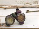 モキップアンティークスタイルスモールセコンドウォッチ ( watch ) ladies leather belt leather purple green antique o-sho